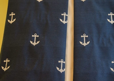 Nautical-inspired-inverted-pleated-valance-detail